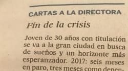 La demoledora carta de una joven a la directora de 'El País' sobre la precariedad y el fin de la