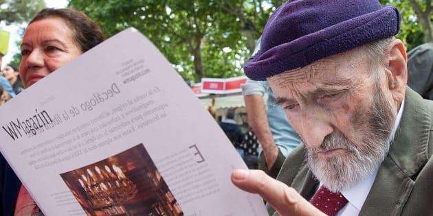 Álvaro Pombo en el acto de 'WMagazín' en la Feria del Libro de Madrid 2018
