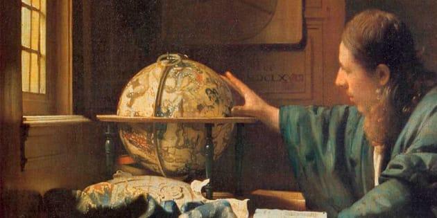 Detalle de 'El astrónomo', de Vermeer.