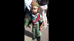 El niño legionario que arrasa cantando 'El novio de la