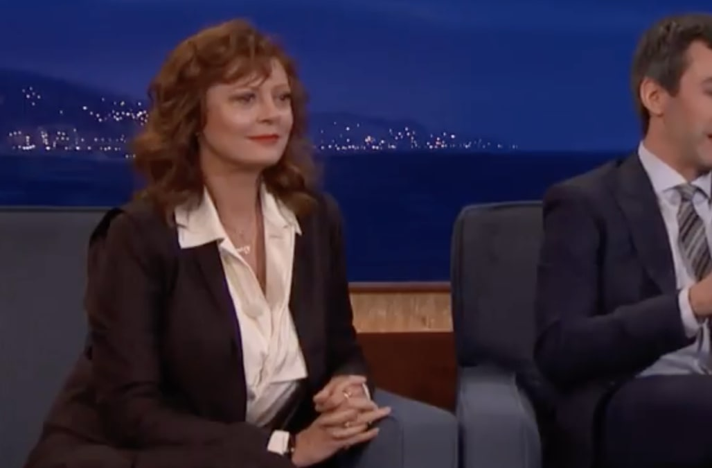 Susan Sarandon doesn't say a word in strange guest