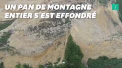 Les images du gigantesque glissement de terrain meurtrier après
