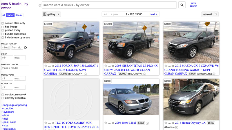 Listing a car for sale on Craigslist won't be free anymore | Autoblog