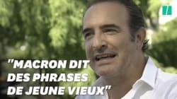 Même Dujardin le dit, Macron a des phrases