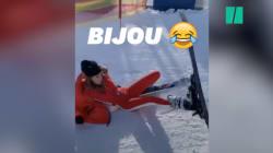Nabilla a essayé de faire du ski et elle a beaucoup