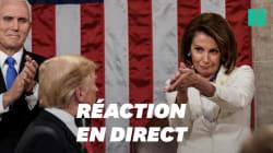 Les drôles d'applaudissements de Pelosi face au discours de