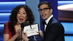 Sandra Oh Is Hosting The Golden Globes With Andy Samberg And We Can't