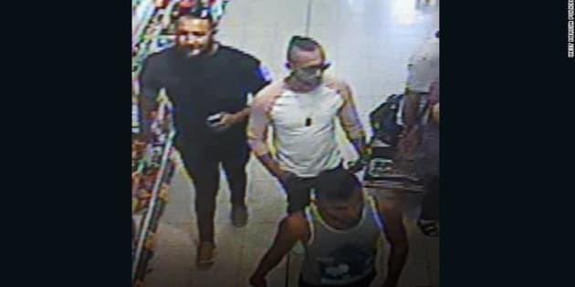 Imagen de seguridad de la tienda en la que se produjeron los hechos, en la que se ve a parte de los detenidos.