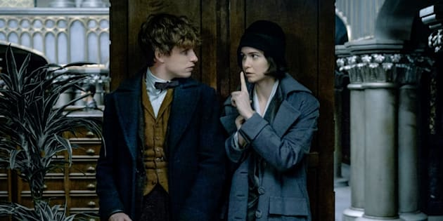"""Eddie Redmayne et Katherine Waterston dans """"Les Animaux fantastiques"""" de J.K. Rowling"""