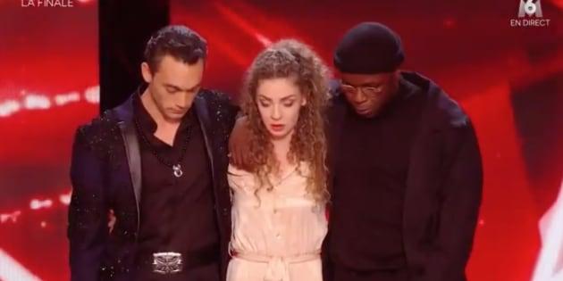 Jean-Baptiste Guégan et le couple de danseurs Dakota et Nadia.