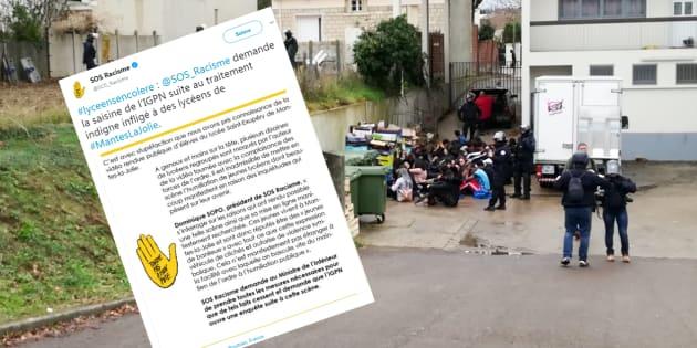 SOS Racisme demande la saisine de l'IGPN suite au traitement indigne infligé à des lycéens de Mantes-la-Jolie