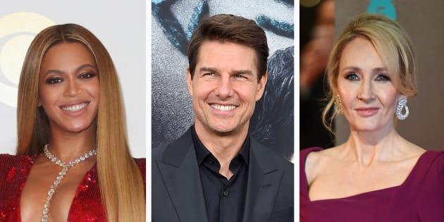 """""""Forbes"""" dévoile les 100 célébrités les mieux payées en 2017."""