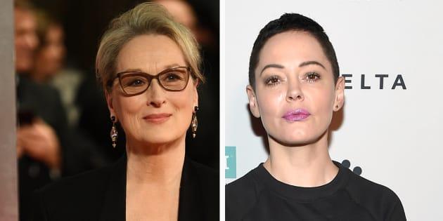 La longue lettre de Meryl Streep à Rose McGowan qui l'accuse d'avoir gardé le silence sur Weinstein