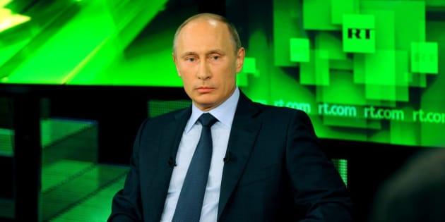El presidente ruspo Vladimir Putin, en una entrevista reciente en RT.