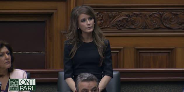 La député franco-ontarienne Amanda Simard.