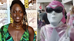 Lupita Nyong'o Was Disguised As A Pink Power Ranger At Comic Con And Had The Best