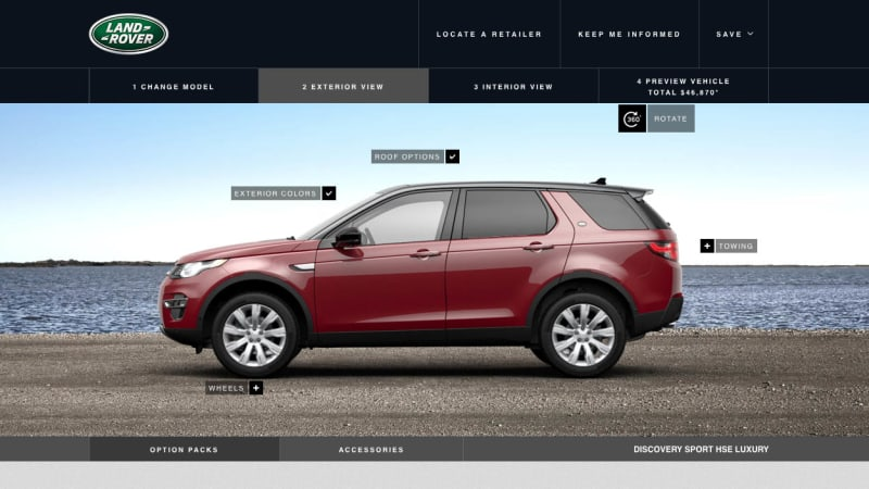 2015 Land Rover Discovery Sport Configurator Launches Full Pricing