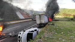 📷 Carambola en la Autopista del Sol provoca incendio de