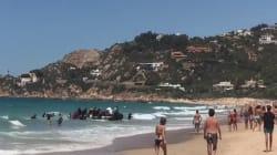 50 inmigrantes desembarcan en una playa de Zahara y echan a correr ante la sorpresa de los