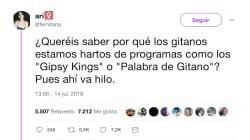 Una tuitera gitana estalla contra los programas como Gipsy