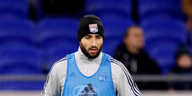 Nabil Fekir à l'échauffement avant le match Lyon-Rennes le 5 décembre.