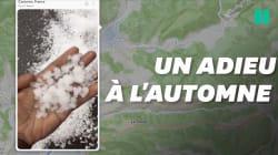 Des pluies de grêlons ont invité l'hiver sur la Côte