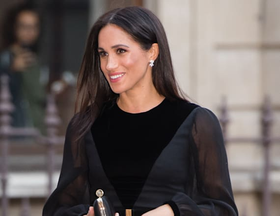 Meghan wows in Givenchy for first solo engagement