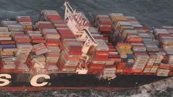 270 conteneurs perdus par un navire en mer du Nord, dont quatre potentiellement