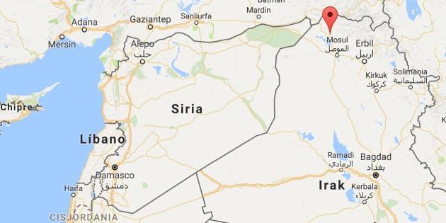 Mapa de localización de la provincia kurda de Dohuk, en el norte de Irak.