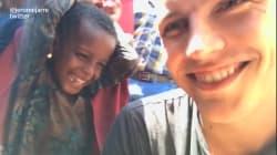 À la descente de l'avion humanitaire en Somalie, Jérôme Jarre s'est déjà fait une