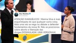 Silas Malafaia e aliados de Bolsonaro atacam discurso de Marina após