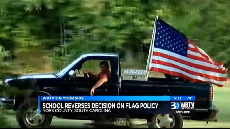 School tells student not to fly US flag on his truck, then backtracks [w/video]