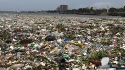 Le onde piene di plastica: in questa spiaggia dominicana il mare è