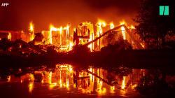 Paysages d'apocalypse en Californie, ravagée par des incendies