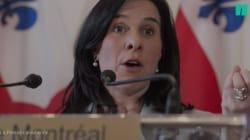 Discours en anglais: Valérie Plante s'excuse encore et