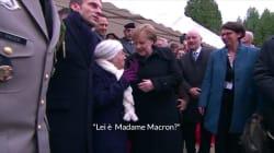 La signora di 101 anni scambia Merkel per lady Macron. La reazione della cancelliera è