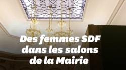 Reportage à l'Hôtel de Ville de Paris qui se prépare à accueillir des femmes