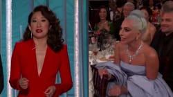 Aux Golden Globes, Sandra Oh se moque de Lady Gaga (qui le prend