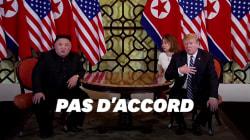 Trump et Kim se quittent sans accord à