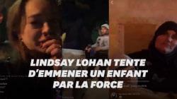 À Paris, Lindsay Lohan tente d'emmener l'enfant d'une famille qui dort dans la rue et suscite