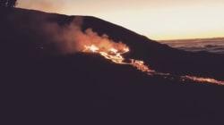 Les images de la nouvelle éruption du Piton de la