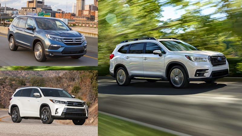 2019 Subaru Ascent vs Honda Pilot vs Toyota Highlander: How they compare on paper