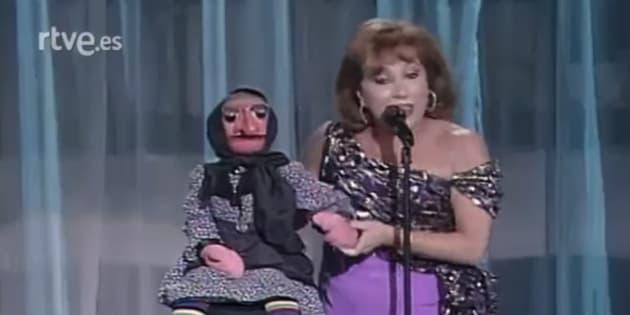 Mari Carmen y sus muñecos en un show en TVE.