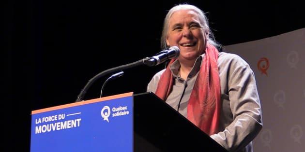 Manon Massé, coporte-parole de Québec solidaire, lors du congrès national du parti tenu du 7 au 9 décembre.