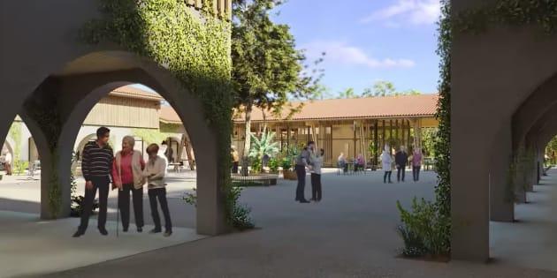 Recreación de las instalaciones, en un vídeo promocional.