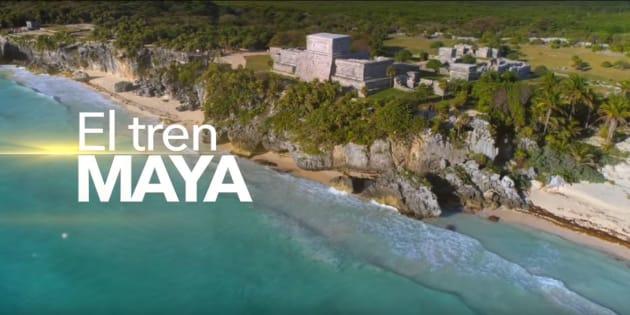 Con video, AMLO promociona el Tren Maya