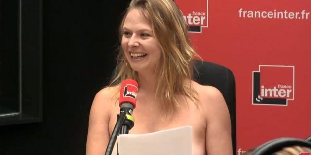 Une humoriste termine sa chronique seins nus sur France Inter pour dénoncer