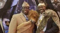 Pour la sortie de Black Panther, tenue fabuleuse