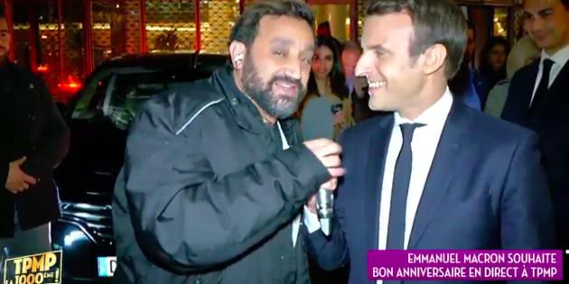 Hanouna déboule à TF1 et interpelle Macron qui s'empare du micro