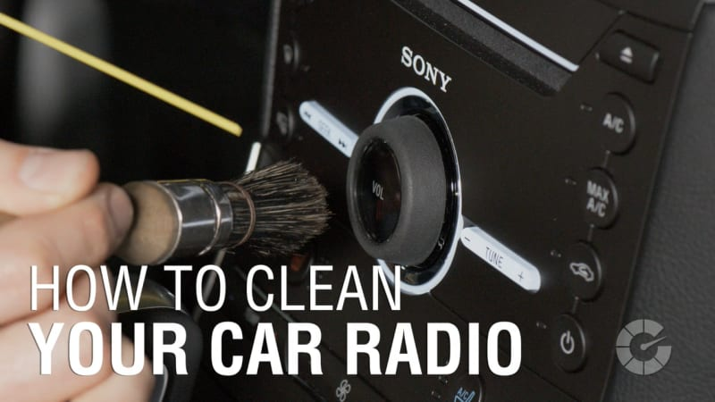 How to clean your car radio
